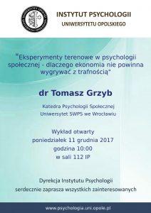 Plakat wykładu otwartego